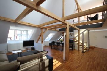 Exklusive und aussergewöhnliche Dachgeschosswohnung in der Altstadt von Ravensburg, 88214 Ravensburg, Dachgeschosswohnung