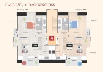 4,5 Neubau Dachgeschoss-Wohung in idyllischer Lage von Schmalegg, 88213 Ravensburg, Dachgeschosswohnung