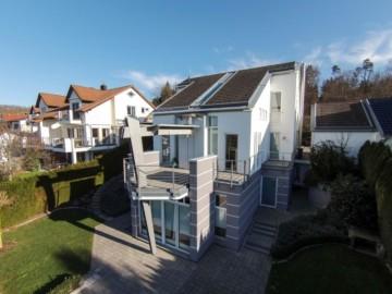 Modernes Einfamilienhaus – Nähe Bodensee mit Aussicht und exklusiver Ausstattung, 88074 Meckenbeuren, Einfamilienhaus